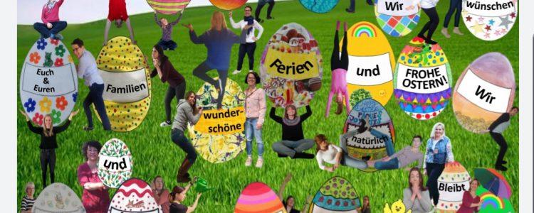 Ostergruß des Kollegiums der Schule am Diebsturm