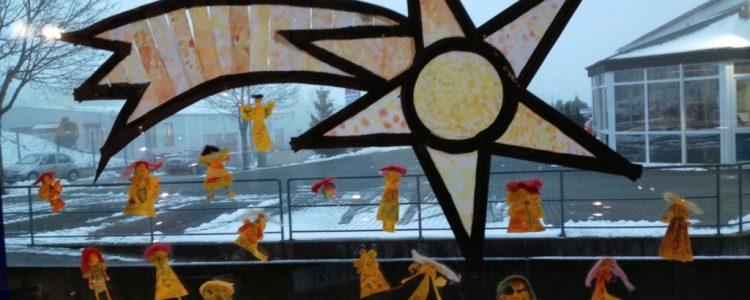 """Wettbewerb """"Das bunteste Weihnachtsfenster"""""""
